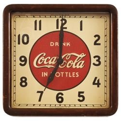 Coca-Cola In Bottles Square Clock