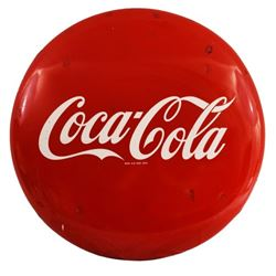 "Coca-Cola 36"" Red Button Sign"