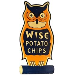 Wise Potato Chips Painted Board Sign