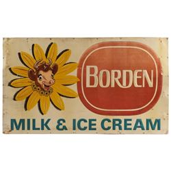 Borden's Milk & Ice Cream Tin Sign
