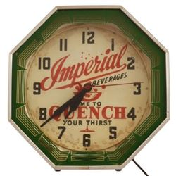 Imperial Beverages Neon Clock