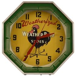 Weather Bird Shoes Neon Clock