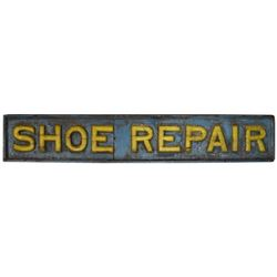 Wooden Shoe Repair Sign