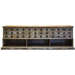 Antique Apothecary Counter