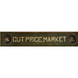 Cut Price Market Painted Wooden Sign