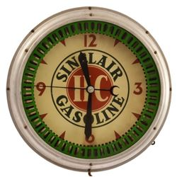 Sinclair Gasoline Neon Spinner Clock