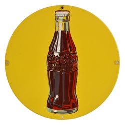 Coca-Cola Sun Dot Porcelain Medallion Sign