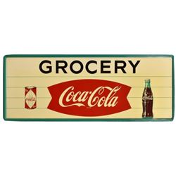 Coca-Cola Grocery Fishtail 5 Ft Tin Sign