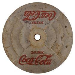 Coca-Cola Cast Iron Sign Base