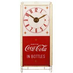 Coca-Cola In Bottles Plastic Clock