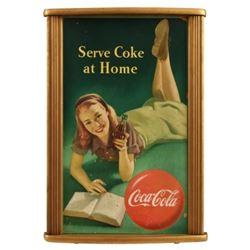 "Coca-Cola ""Serve Coke at Home"" Cardboard Sign"