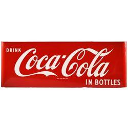 Drink Coca-Cola In Bottles 5 Ft Porcelain Sign