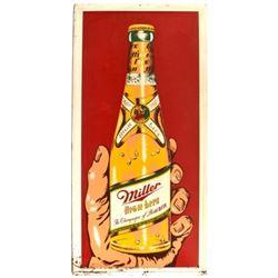 Miller High Life Beer Bottle Tin Sign