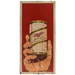 Miller High Life Beer Can Tin Sign