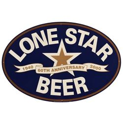 Lone Star Beer 60th Anniversary 1940-2000 Tin Sign