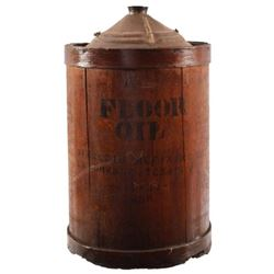 Sinclair Floor Oil Wooden Container