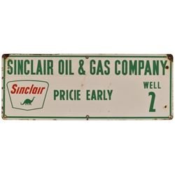 Sinclair Oil & Gas Well 2 Porcelain Sign