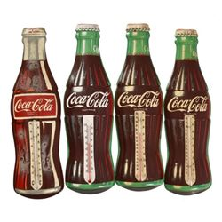Coca-Cola Tin Bottle Thermometers (4)