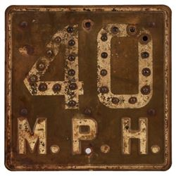 40 Mph Speed Limit Reflector Road Sign