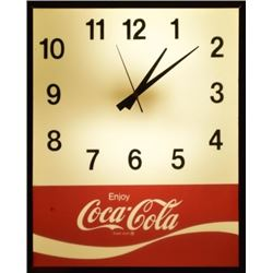 Coca-Cola Light-Up Clock