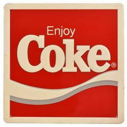 Enjoy Coca-Cola Tin Sign