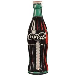 Coca-Cola Tin Bottle Thermometer