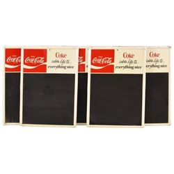 Coca-Cola Tin Chalkboard Menu Signs (5)