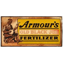 Armour's Old Black Joe Fertilizer Tin Sign