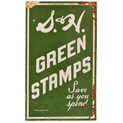 S&H Green Stamps Double Sided Porcelain Sign