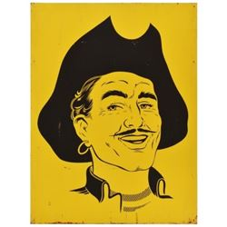 Yellow Pirate Stamps Tin Sign