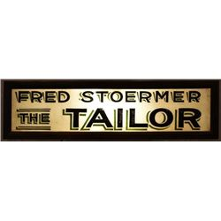 Fred Stoermer The Tailor Advertising Light-Up Sign