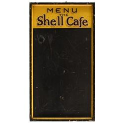 Shell Cafe Painted Wood Double Sided Menu Board