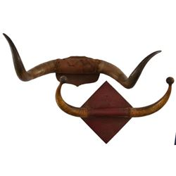 Pair of Horn Hat Racks