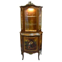 Ornate French Revival Lighted Display Cabinet