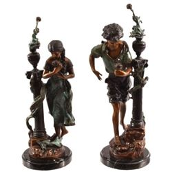 Hansel & Gretel Bronze Pair