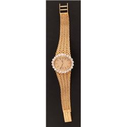 Rolex 18kt Gold Watch With Diamond Bezel