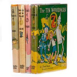 Four Baum Oz Books in variant dust jackets