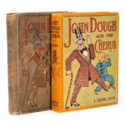 Two copies of Baum's John Dough and the Cherub with rare contest blank