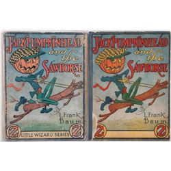 Two scarce editions of Jack Pumpinhead and the Sawhorse by Baum