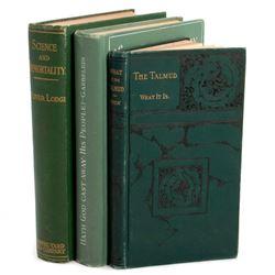 Three antique volumes on religion