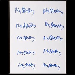 10 stickers autographed by Ray Bradbury