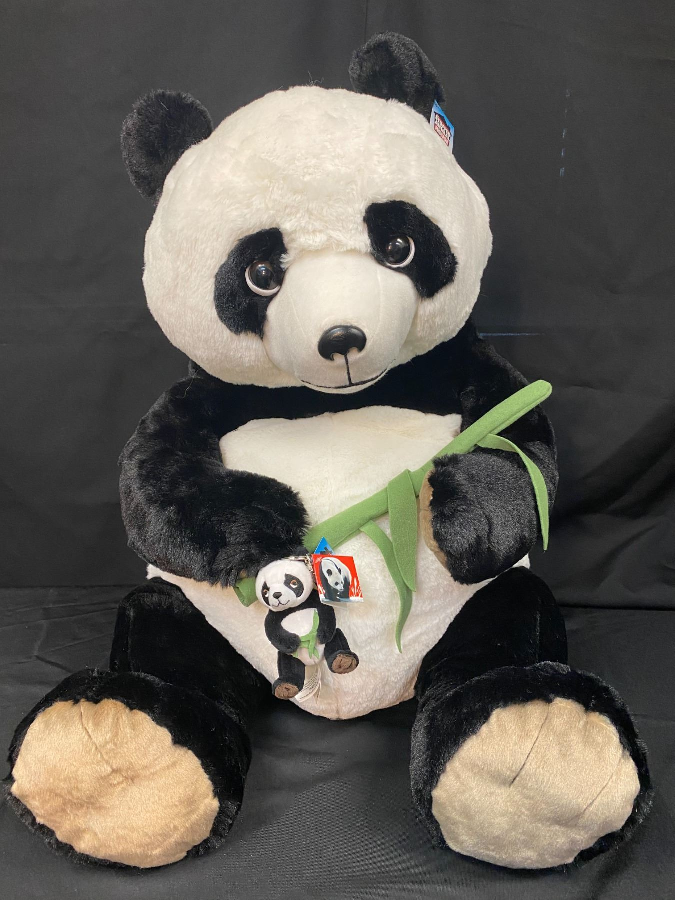 Large Stuffed Panda w/Matching Keychain