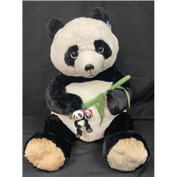 Large Stuffed Panda w/Matching Keychain