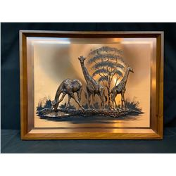 "Copper Wall Decor - ""Giraffes"""