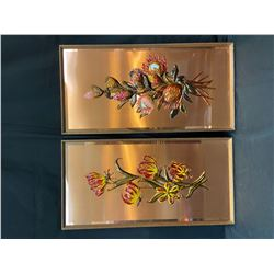 Copper Wall Decor - Flowers - Set of 2