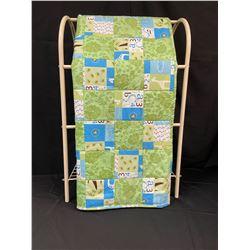 Handmade Baby Quilt Green/Blue