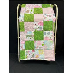 Handmade Baby Quilt Pink/Green