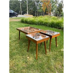 Exquisite, Unique set of Copper Coffee/End Tables