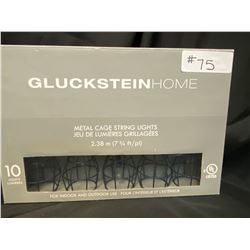 Gluckstein Home Metal Cage String Lights