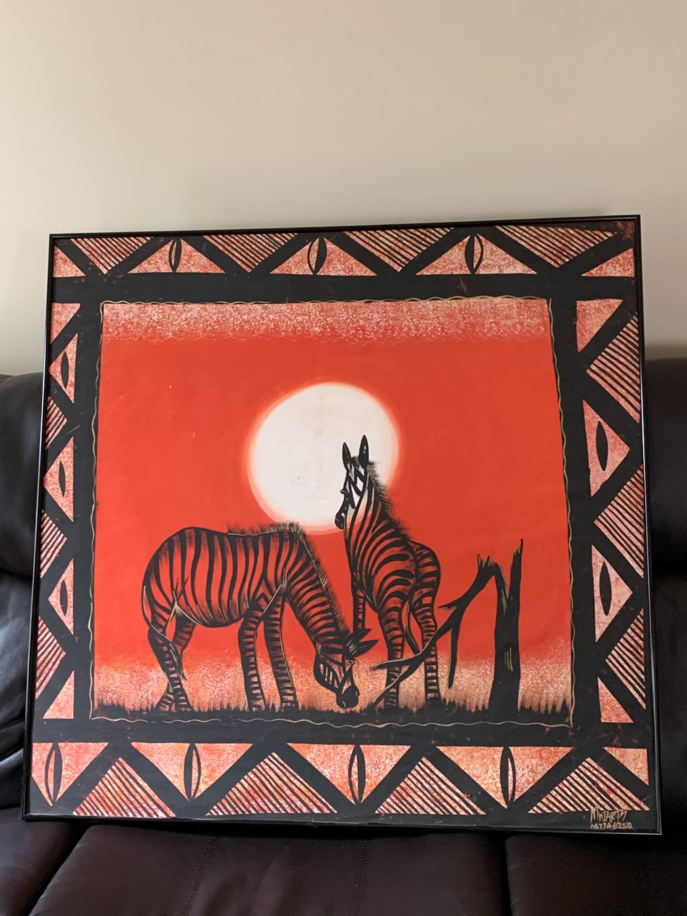 Gorgeous Original Zebra Painting from Zambia